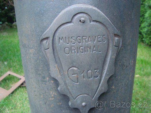 Stará , litinová kamna  Musgraves original G103 - 1