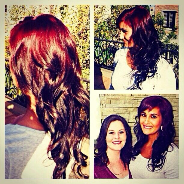 Loved doing this trendy and vibrant mehogany sombre for Jeanine McDonald