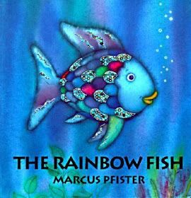 Almost Unschoolers: Rainbow Fish Craft, and Birthday Party Game