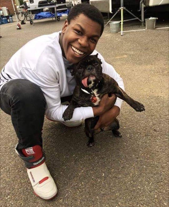 John Boyega cuddling a puppy http://ift.tt/29RfHZv