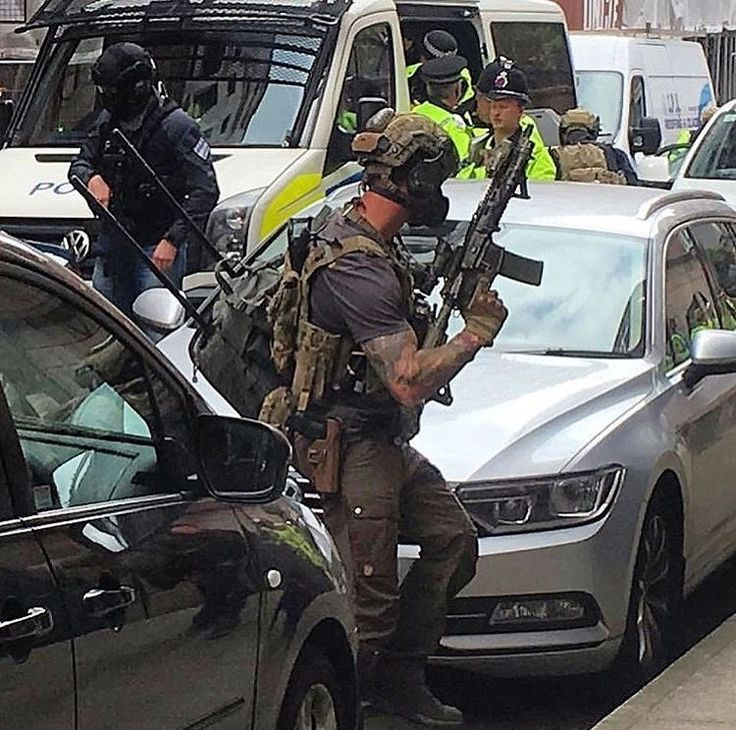 Member of the 22 Special Air Service during raid operations in response to the Manchester Terror Attack