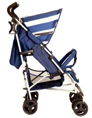 Designed by celebrity mum Billie Faiers the MB01 blue stripes strollers are great value, sporty, lightweight buggies that offer great manoeuvrability and easy handling. Thanks to the lockable and swivelling front wheels and the extra large shopping basket, the MB01 stroller is ideal for any trip out with your little one. They also come with a handy cup holder and rain cover!