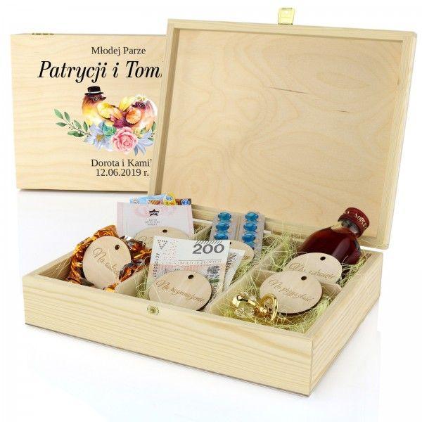 Skrzynka Na Upominki Z Nadrukiem Slubny Slubne Ptaki Gifts Fun Toy Chest