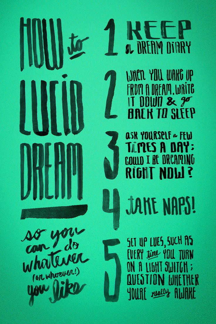 How to Lucid Dream, Day 35 http://fortydaysofdating.com ...
