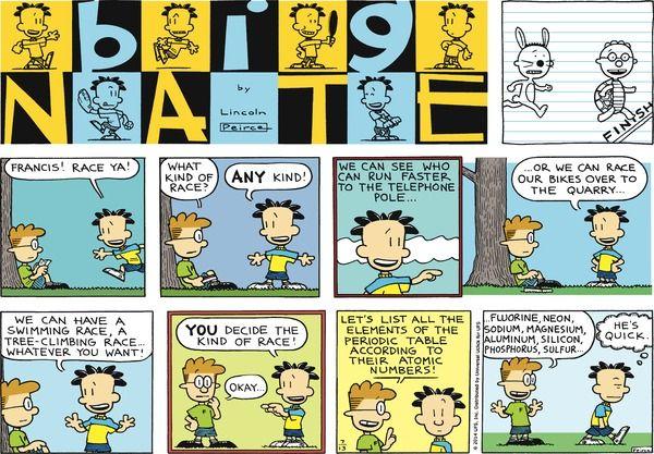 Big Nate By Lincoln Peirce Sunday July 13 2014 Comics
