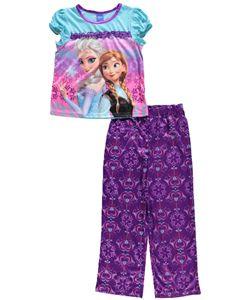 "Disney Frozen Big Girls' ""Sisters Back-to-Back"" 2-Piece Pajamas (Sizes 7 – 16) - CookiesKids.com"