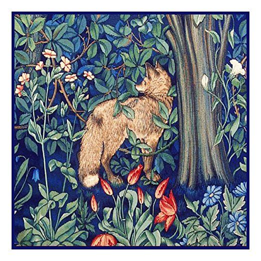 Forest Fox by William Morris Counted Cross Stitch Pattern