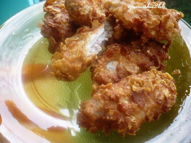 Reteta culinara Aripioare crocante a la KFC din categoria Pui. Cum sa faci Aripioare crocante a la KFC