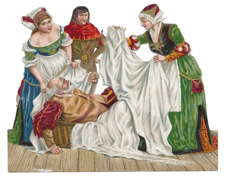 Victorian Die Cut Scrap  Falstaff and The Merry Wives of Windsor
