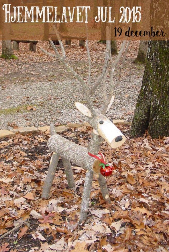 Hjemmelavet julehygge til haven – Byg et rensdyr