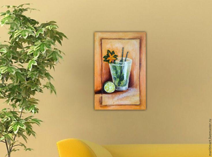 Купить Мохито - яркая картина, оригинальный подарок, яркие цвета, картина для…