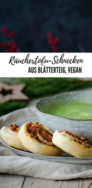 Räuchertofu-Schnecken. Blätterteig Rezept, vegan