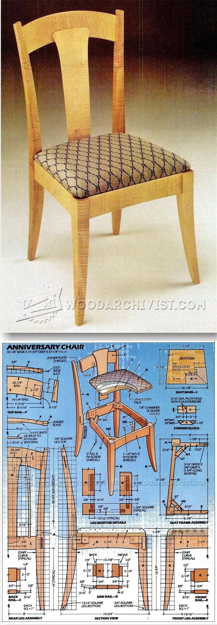 Side Chair Plans - Furniture Plans and Projects | WoodArchivist.com