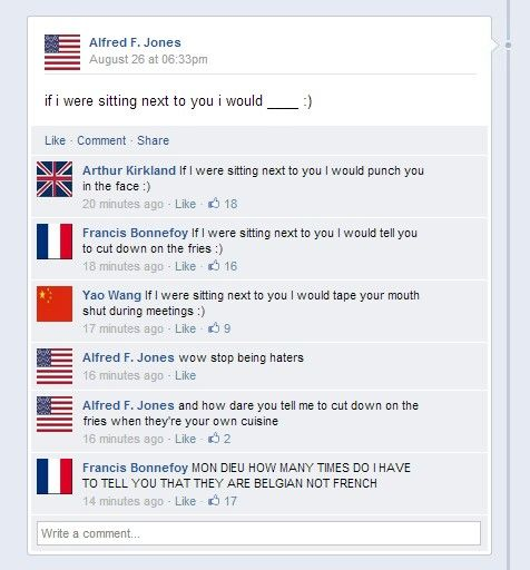 """You can hear the """"I'll stab you"""" in France's voice<<< o my gosh"""