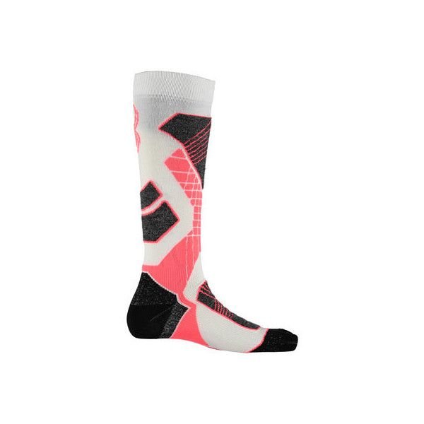 Women's Spyder Zenith Sock - White/Bryte Pink/Black Ski Socks (€23) ❤ liked on Polyvore featuring intimates, hosiery, socks, black sport socks, pink sports socks, sports socks, black hosiery and white sports socks