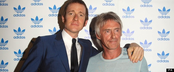 Olympic winner Bradley Wiggins with Paul Weller at the Adidas Underground event in east London