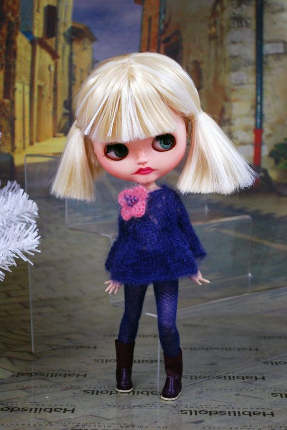 Ensemble for Blythe dolls cardiganlong knit top by habilisdolls