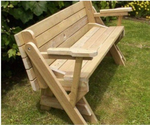 Fine Plans For Folding Bench To Picnic Table Printed In 2019 Pabps2019 Chair Design Images Pabps2019Com