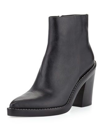 Alexander Wang Kelly Pointed-Toe Ankle Boot - Neiman Marcus
