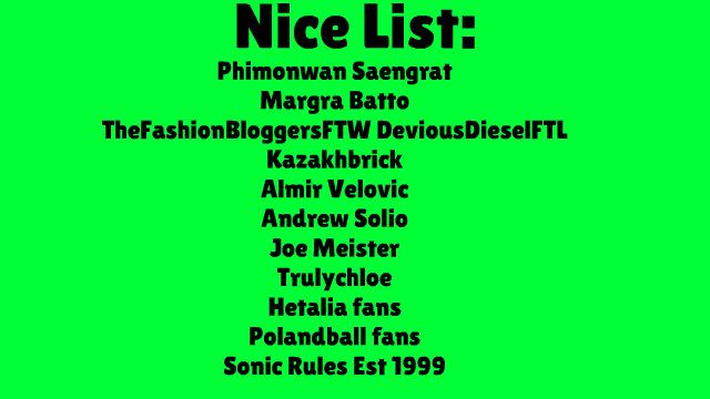 My Nice and Naughty List