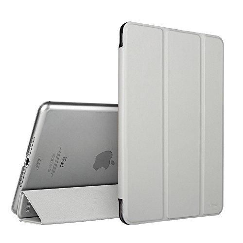 iPad Mini 2 Case ESR iPad Mini Smart Case Cover [Synthetic Leather] Translucent Frosted Back Magnetic Cover with Sleep/Wake Function [Ultra Slim][Light Weight] for iPad Mini 1/2/3 (Silver Grey)