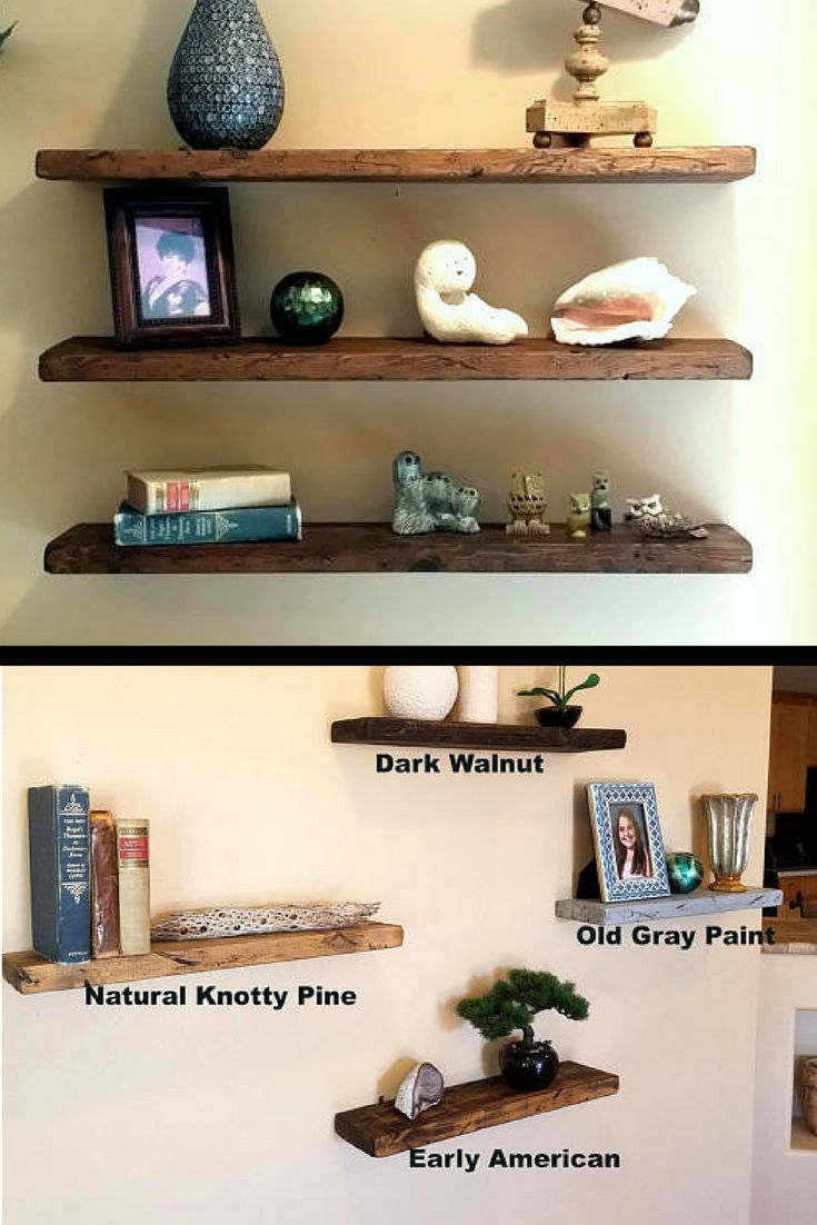 $19 Any Length* Floating Shelves Reclaimed Wood Floating Shelf Wall Shelves  Wood Shelves Rustic Shelf