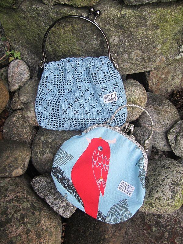 Unique handbags made of lace and cotton. Risako. Ask for availability.  Kysy saatavuutta Risakolta.