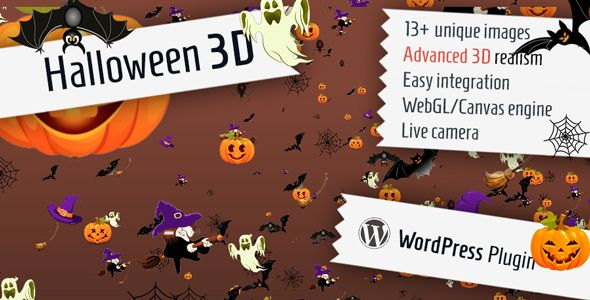 Halloween 3D for WordPress