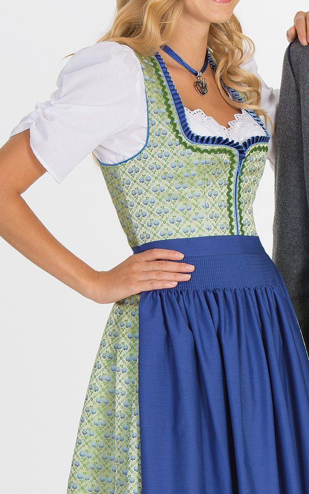 Chiemseer Dirndl & Tracht Online Shop-Blusendirndl Burgbach, mit Schürze