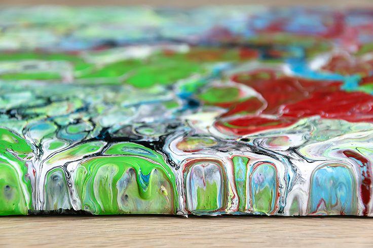 Aesthetic I - Abstract painting - acrylic on canvas - 30x30 cm - read more on: https://artbylonfeldt.dk/webshop/aesthetic-i/