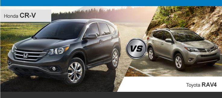 Maybe, two the most popular SUVs.....Toyota RAV4 vs. Honda CR-V