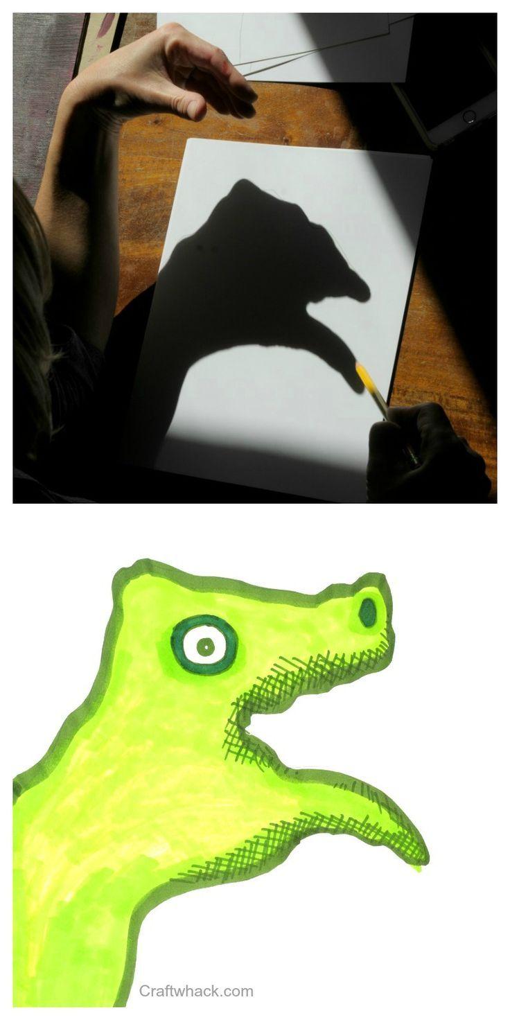 Horrific Hand Shadow Monster Drawings Of Doom Halloween Art Projects Monster Drawing Shadow Art