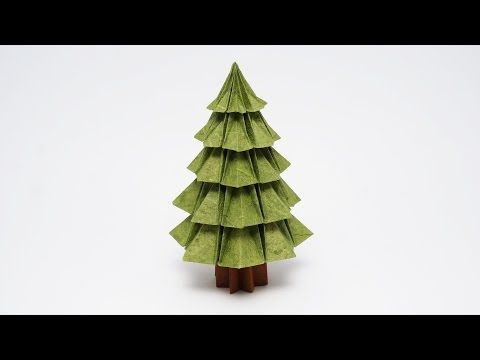 Origami Christmas Tree (Jo Nakashima) - YouTube