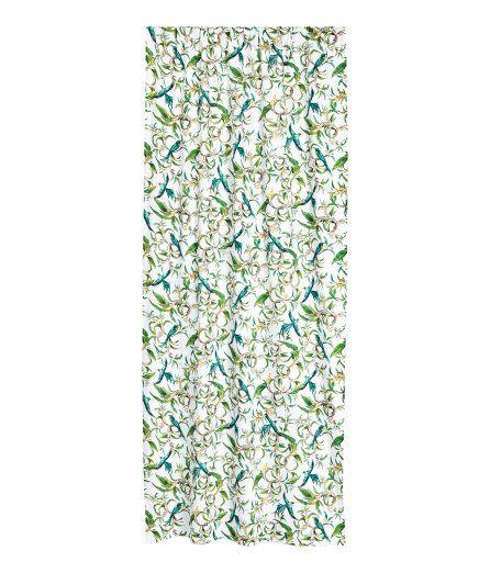 Sjekk ut dette! Gardinlengder i kraftig, vevd bomullskvalitet med trykt mønster. Bred kanal øverst.  - Besøk hm.com for å se mer.