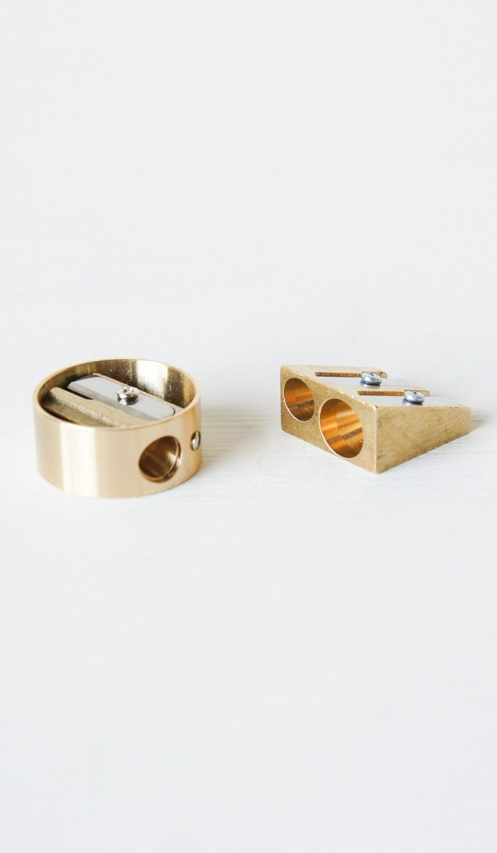 Brass Pencil Sharpeners | @KlearlyKirsty