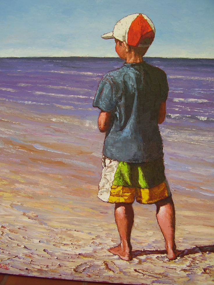 Niño en la playa,,Uruguay,,,Hugo Rossi