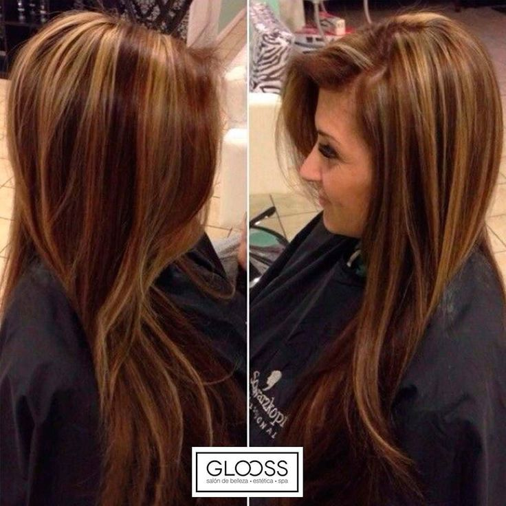 Tintes De Cabello Color Chocolate Con Mechas Tintes De