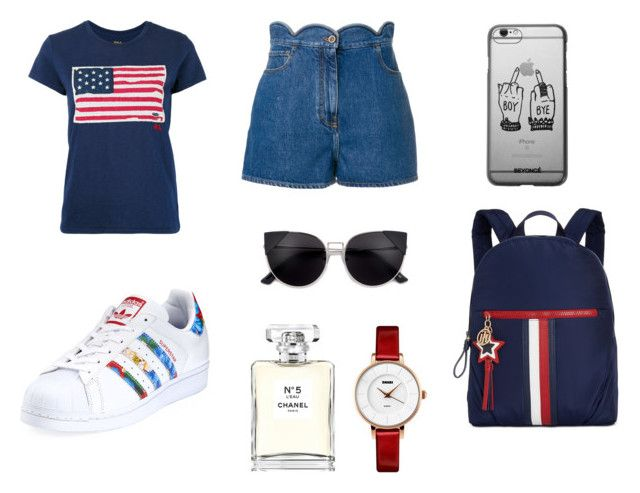 """""""🎒"""" by isagarcia18 on Polyvore featuring moda, Polo Ralph Lauren, Valentino, adidas, Tommy Hilfiger y Chanel"""