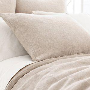 Linen Chenille Natural Duvet Cover | Pine Cone Hill