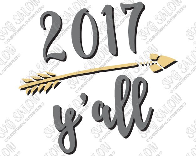 Best New Years Cutting Files Images On Pinterest Silhouette - Custom vinyl decals machine for shirts