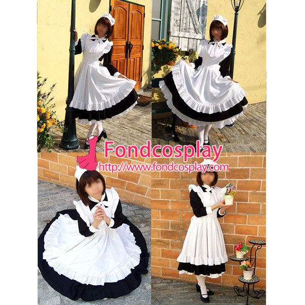 Free Shipping Sexy Sissy Maid Dress Cotton Uniform Cosplay Costume Tailor-made
