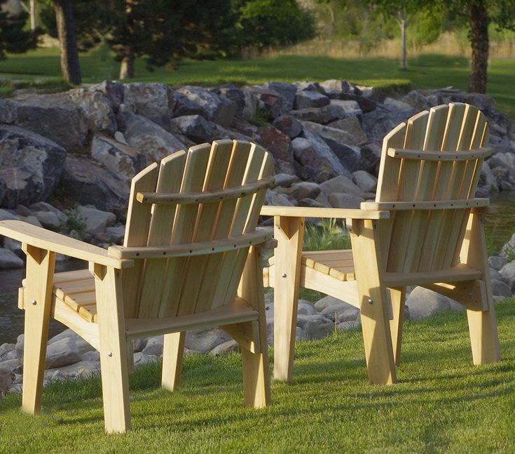 2 Adirondack Garden Chair Kits Unfinished Etsy Garden Chairs Durable Outdoor Furniture Furniture Dining Chairs
