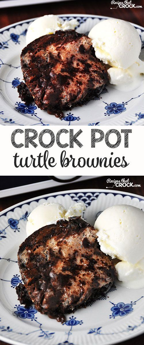 Everyone will be asking you for the recipe for these delicious Crock Pot Turtle Brownies!