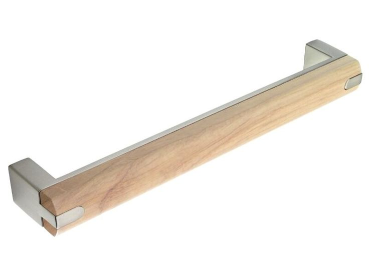 Brushed Steel-Oak Combination 'D' Handle