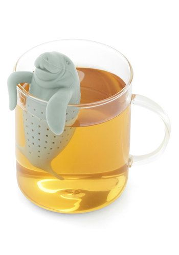 I would drink more tea with this cutie! Sea for Two Tea Infuser