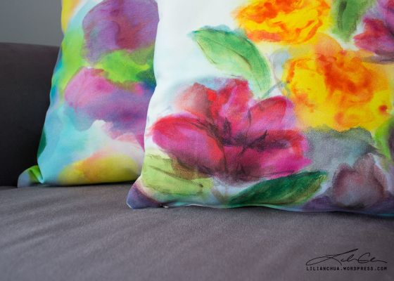 Hand Painted Throw Pillows by Lilian Chua