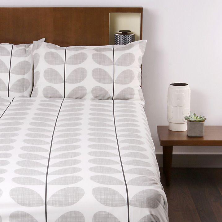 Buy Orla Kiely Scribble Stem Standard Pillowcases, Pair, Dark Concrete Online at johnlewis.com