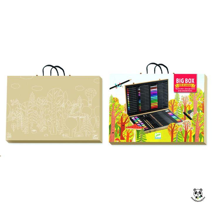 Nagy kreatív készlet - Big box of colours (Djeco) | Pandatanoda.hu Játék webáruház