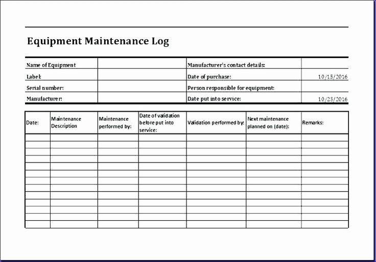 Facility Maintenance Checklist Template New Facility ...
