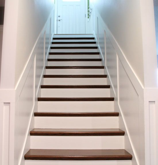 IHeart Organizing: Secret Stairs: How to create wood stairs on constructions grade particle board